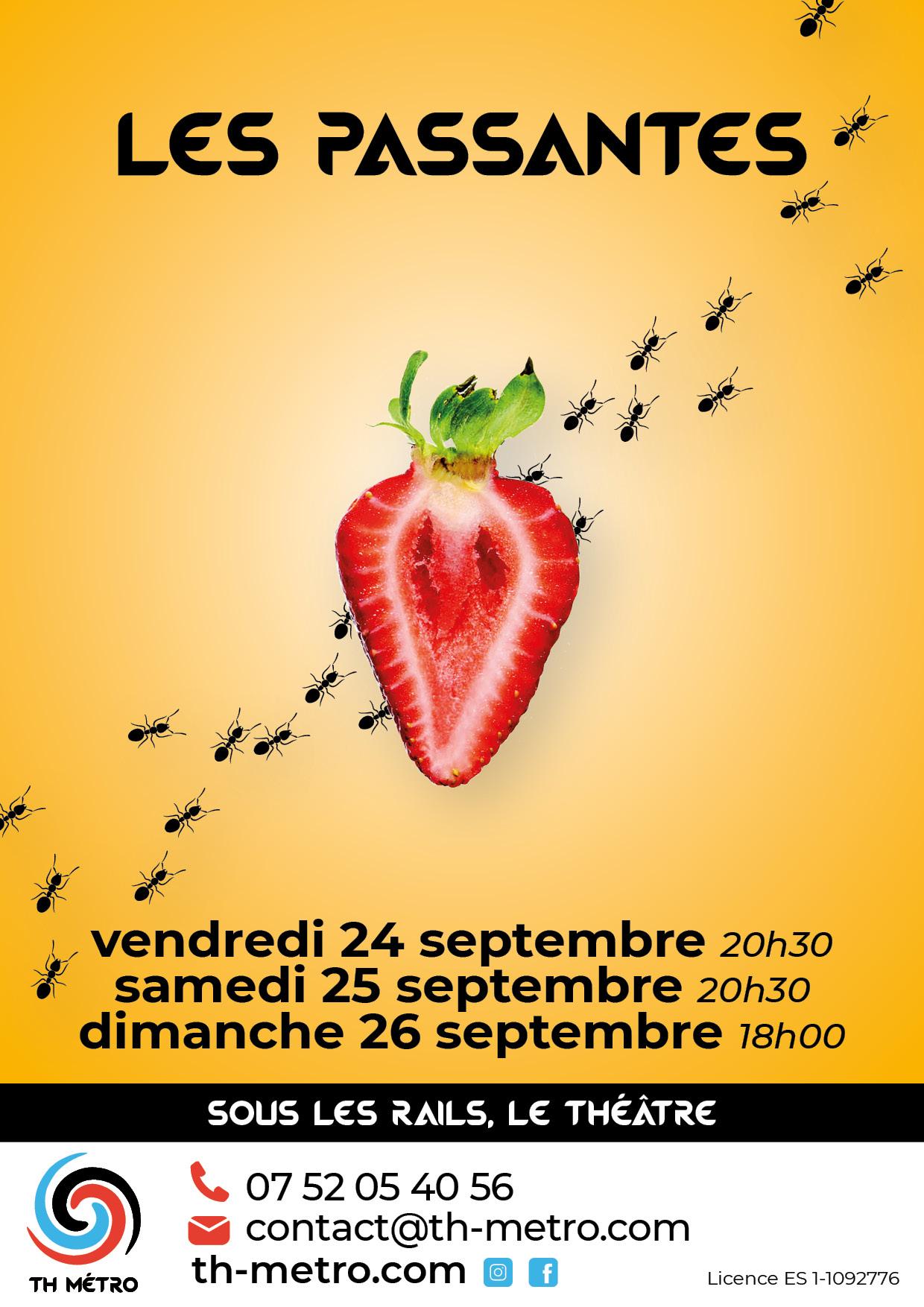 Les Passantes-TH Métro Ateliers Lyon-24,25 et 26 septembre 2021